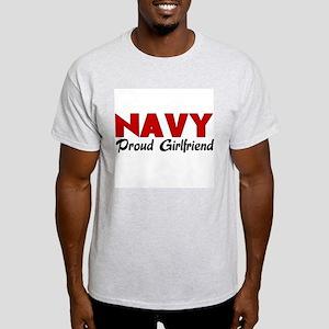 Navy Girlfriend (red) Light T-Shirt