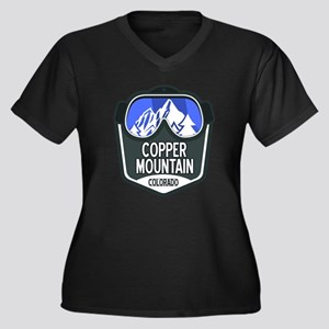Copper Mount Women's Plus Size V-Neck Dark T-Shirt