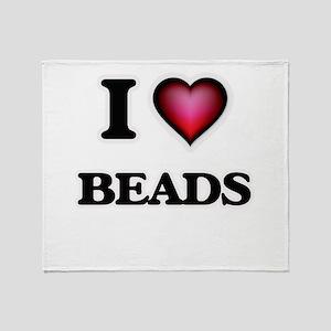 I Love Beads Throw Blanket