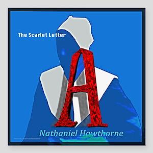 "The Scarlet Letter Square Car Magnet 3"" X 3&q"
