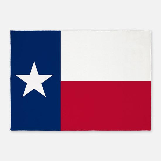 Texas: State Flag of Texas 5'x7'Area Rug