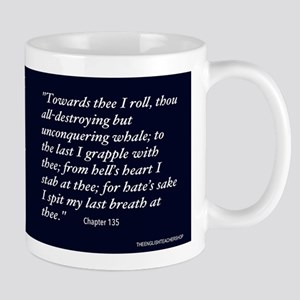 Moby Dick Text Mugs