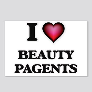 I Love Beauty Pagents Postcards (Package of 8)