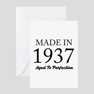 Made In 1937 Greeting Cards