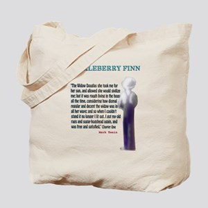 Huckleberry Finn Quote Tote Bag