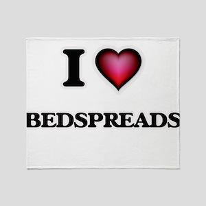 I Love Bedspreads Throw Blanket