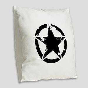 Ring Star Burlap Throw Pillow