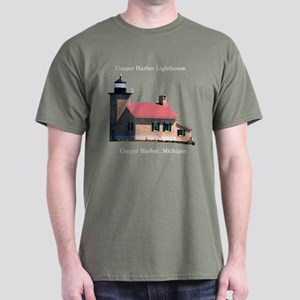 Copper Harbor Lighthouse Dark T-Shirt