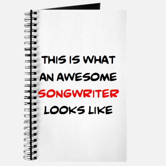 awesome songwriter Journal