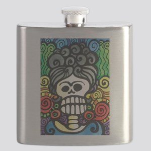 Catrina Day of the Dead Sugar Skull Flask