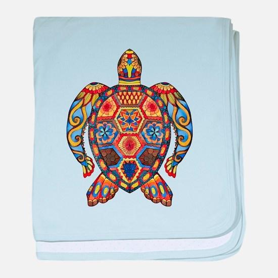 Each Turtle Art baby blanket