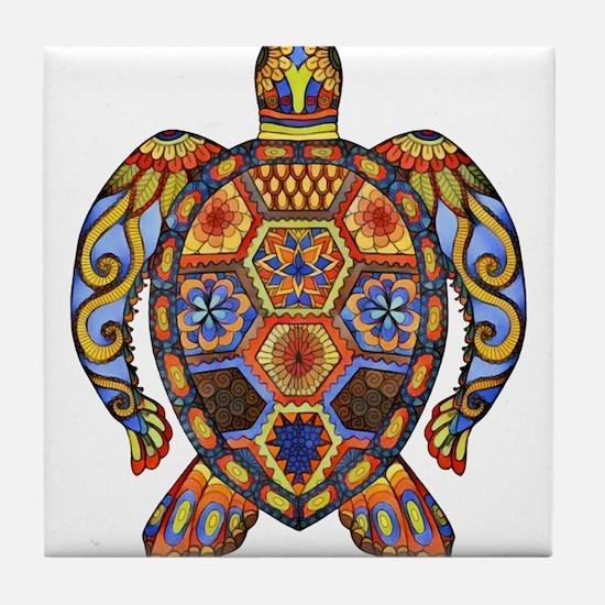 Each Turtle Art Tile Coaster