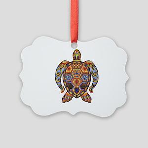 Each Turtle Art Picture Ornament