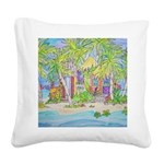 Caribbean Dreaming Square Canvas Pillow