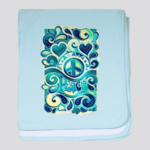 Colorful Hippie Art baby blanket