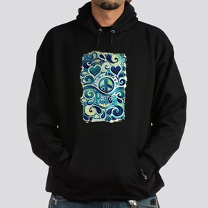 Colorful Hippie Art Hoodie (dark)