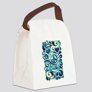 Colorful Hippie Art Canvas Lunch Bag