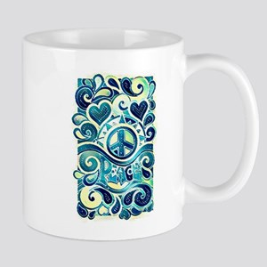 Colorful Hippie Art Mugs