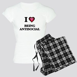 I Love Being Antisocial Women's Light Pajamas