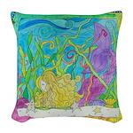 Mermaid Love Woven Throw Pillow