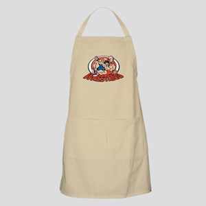 Grappling Wrestlers BBQ Apron