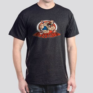 Grappling Wrestlers Dark T-Shirt