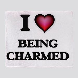 I love Being Charmed Throw Blanket