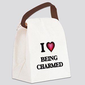 I love Being Charmed Canvas Lunch Bag