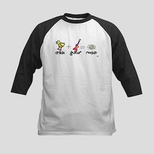 Chick Guitar Rocks! Kids Baseball Jersey