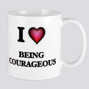I love Being Courageous Mugs