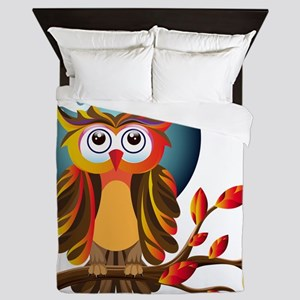 Cute Owl Queen Duvet