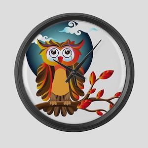 Cute Owl Large Wall Clock