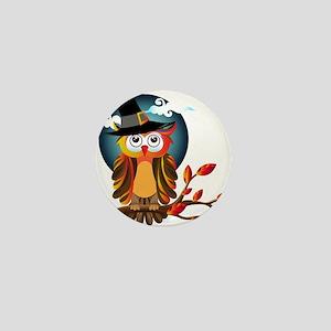 Halloween Witch Owl Mini Button