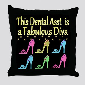 CHIC DENTAL ASST Throw Pillow