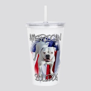 American Bulldog Acrylic Double-wall Tumbler