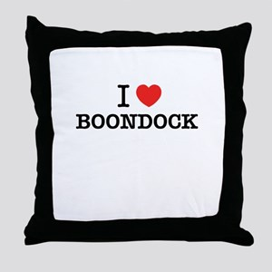 I Love BOONDOCK Throw Pillow