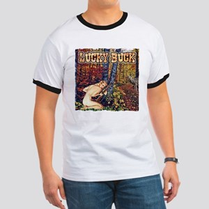 Lucky buck hunting T-shirts a Ringer T