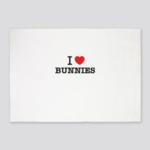 I Love BUNNIES 5'x7'Area Rug
