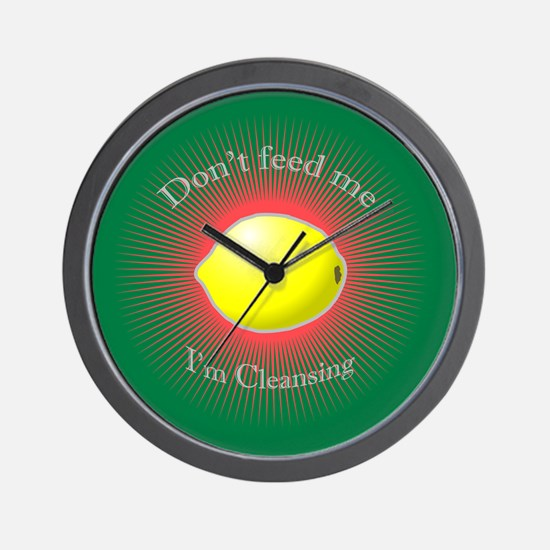 Lemonade diet Wall Clock