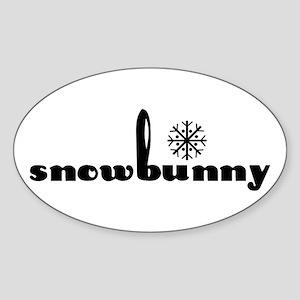 Snowbunny Oval Sticker