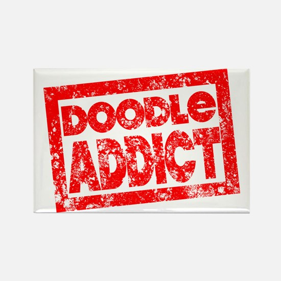 Doodle ADDICT Rectangle Magnet