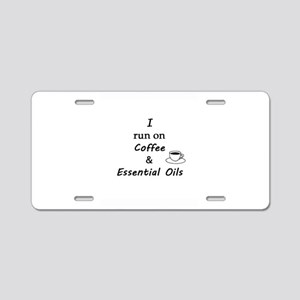 Coffee and Oils Aluminum License Plate