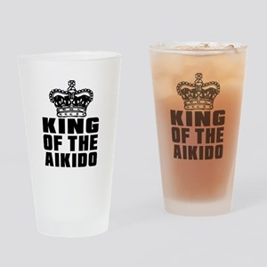 King Of The Aikido Drinking Glass