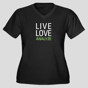 Live Love An Women's Plus Size V-Neck Dark T-Shirt