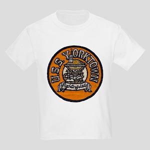 USS YORKTOWN Kids Light T-Shirt