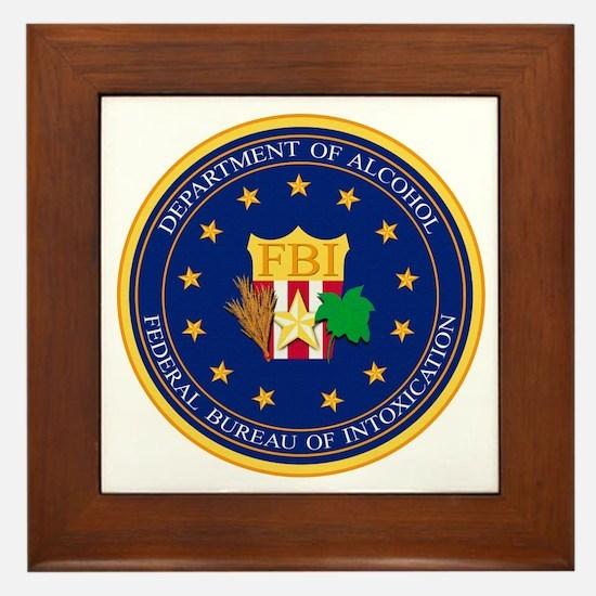 FBI - Department Of Alcohol Framed Tile