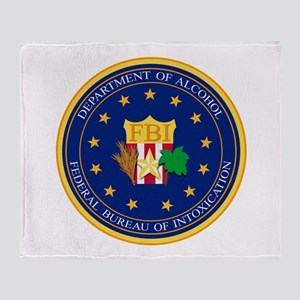 FBI - Department Of Alcohol Throw Blanket