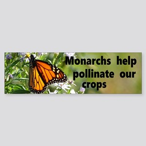 Save Monarchs Bumper Sticker