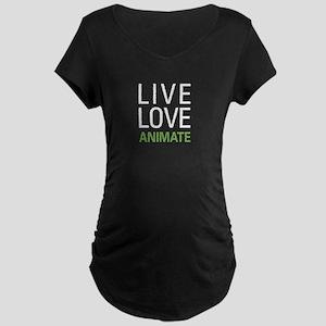 Live Love Animate Maternity Dark T-Shirt