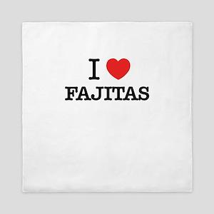 I Love FAJITAS Queen Duvet